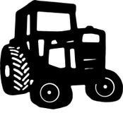 Dibujo del icono del tractor Imagen de archivo