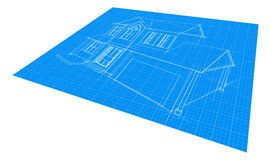 Dibujo del modelo de la casa Foto de archivo libre de regalías