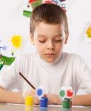 Dibujo del muchacho Fotografía de archivo
