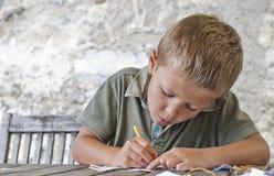 Dibujo del muchacho Foto de archivo