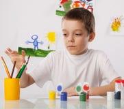 Dibujo del muchacho Foto de archivo libre de regalías