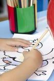 Dibujo del niño Fotografía de archivo libre de regalías