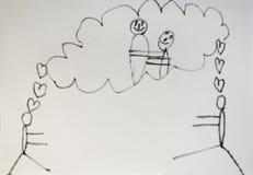 Dibujo del niño del amor foto de archivo libre de regalías