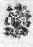 Dibujo del pájaro fotos de archivo