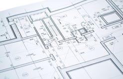 Dibujo del plan de piso Imagen de archivo libre de regalías