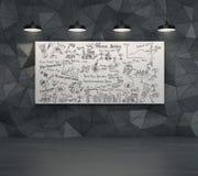 Dibujo del plan empresarial en el escritorio Foto de archivo
