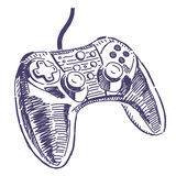 Dibujo del vector de Gamepad Foto de archivo libre de regalías