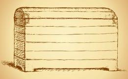 Dibujo del vector del pecho Imagen de archivo