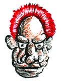 Dibujo del viejo hombre Fotografía de archivo