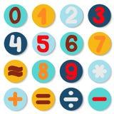 Dibujo determinado del número Elemento de los gráficos de la información Imagen de archivo libre de regalías