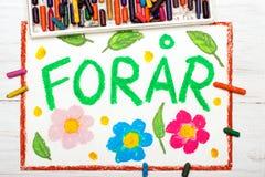 Dibujo: El danés redacta la primavera de ForÃ¥r Foto de archivo libre de regalías