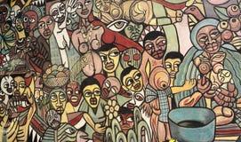 Dibujo en África stock de ilustración