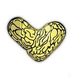 Dibujo en forma de corazón del cerebro Imágenes de archivo libres de regalías