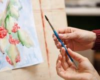 Dibujo en una escuela de arte Imagen de archivo libre de regalías