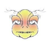 Dibujo enojado del retrato del monstruo Foto de archivo libre de regalías