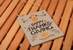 Dibujo feliz de la acción de gracias en la decoración de la pizarra Imagen de archivo libre de regalías