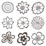 Dibujo floral de la mano Imágenes de archivo libres de regalías