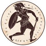 Dibujo griego del vector stock de ilustración