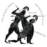 Dibujo griego del vector Fotografía de archivo libre de regalías