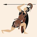 Dibujo griego del vector Imagenes de archivo