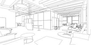 Dibujo interior Imagen de archivo