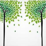 Dibujo lindo de los árboles del concepto ilustración del vector
