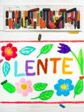Dibujo: Nederlands redacta la primavera de LENTE Foto de archivo