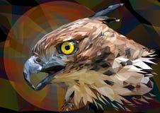Dibujo poligonal del ejemplo de Hawk Eagle cambiable stock de ilustración