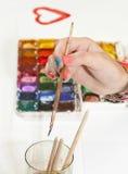 Dibujo por las pinturas del color de agua Foto de archivo libre de regalías