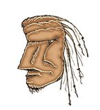 Dibujo prehistórico de la cabeza del hombre libre illustration
