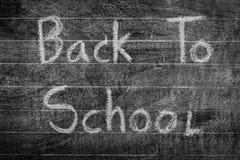 Dibujo a pulso de nuevo a escuela en la pizarra, RRPP filtradas de la imagen Fotografía de archivo