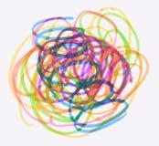 Dibujo sucio de la pluma del color Fotos de archivo