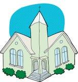 Dibujo verde de la iglesia Fotografía de archivo