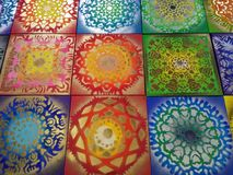 Dibujos abstractos brillantes, colores brillantes Imágenes de archivo libres de regalías