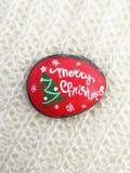 Dibujos de la Navidad en piedras Foto de archivo