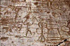 Dibujos de la roca en Valcamonica 11 imagen de archivo