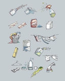 Dibujos de lavado Foto de archivo