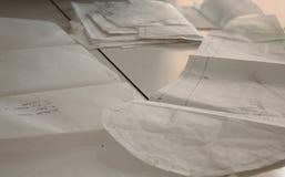 Dibujos de modelos de costura Imagen de archivo libre de regalías