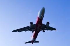 25 DIC 2016 AIRPLAIN IN KUALA LUMPUR. 25 DIC 2016 AIRPLAIN READY TO LANDING IN AIRPORT KLIA KUALA LUMPUR Royalty Free Stock Photos