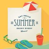 Dica ciao al modello dell'estate Fotografia Stock
