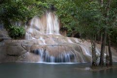 Dica la cascata di Yok Noi Fotografie Stock