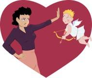 Dica no al San Valentino Fotografie Stock Libere da Diritti