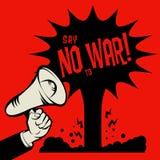 Dica no alla guerra illustrazione vettoriale