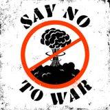 Dica no alla guerra Immagini Stock