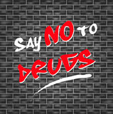 Dica NO alle droghe Fotografie Stock