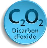 Dicarbon dioxide Royalty Free Stock Image