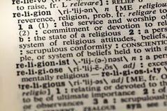 Diccionario de la dedicación de la fe de la reverencia de la religión fotografía de archivo