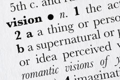 Diccionario de palabra de la visión definido Fotos de archivo