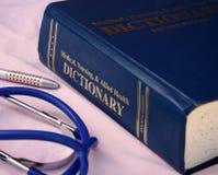Diccionario médico fotos de archivo libres de regalías