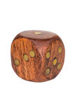 dice деревянное стоковая фотография